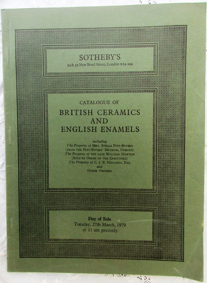 Sotheby's ~ British Ceramics and English Enamels ~ London ~ 27. 03. 1979