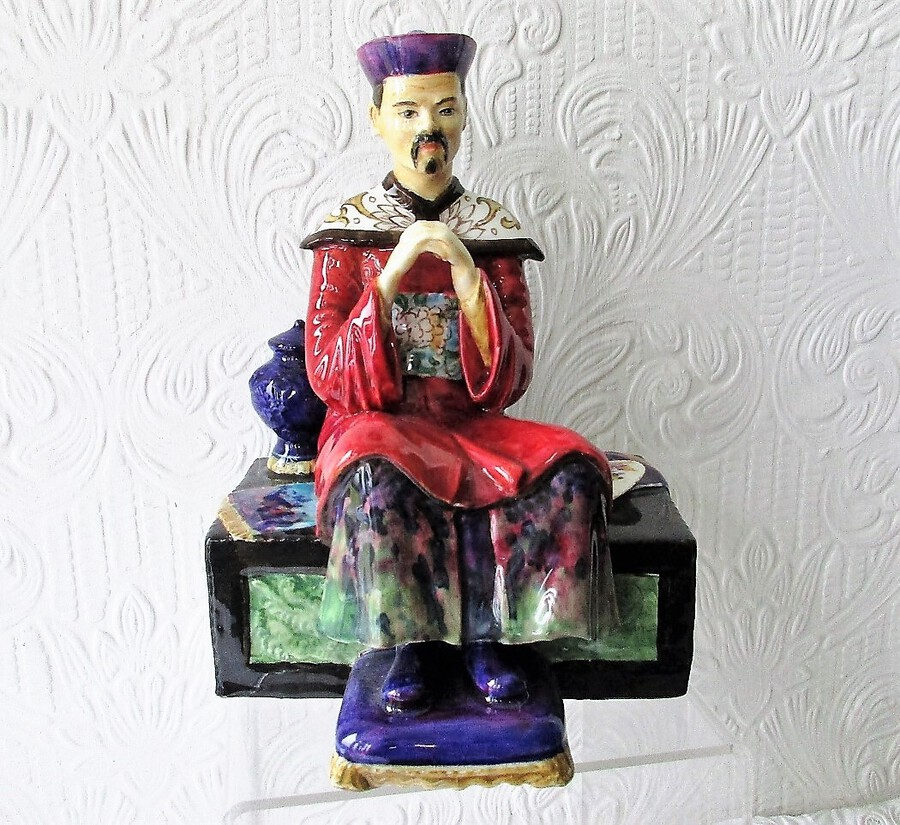 "English Studio Pottery Porcelain Figurine ~ ""Mandarin"" ~ Reginald Johnson"