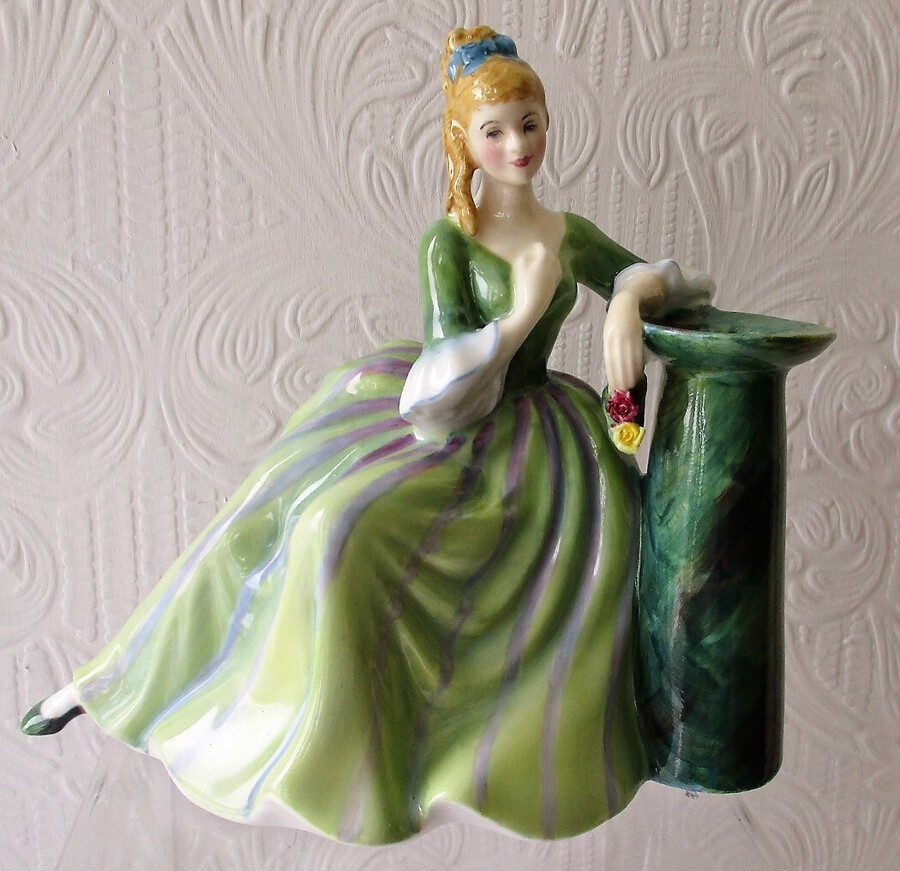 "Royal Doulton English Porcelain Figurine ~ ""Secret Thoughts"" ~ HN 2382 ~ Different Colourway ~ Unmarked"
