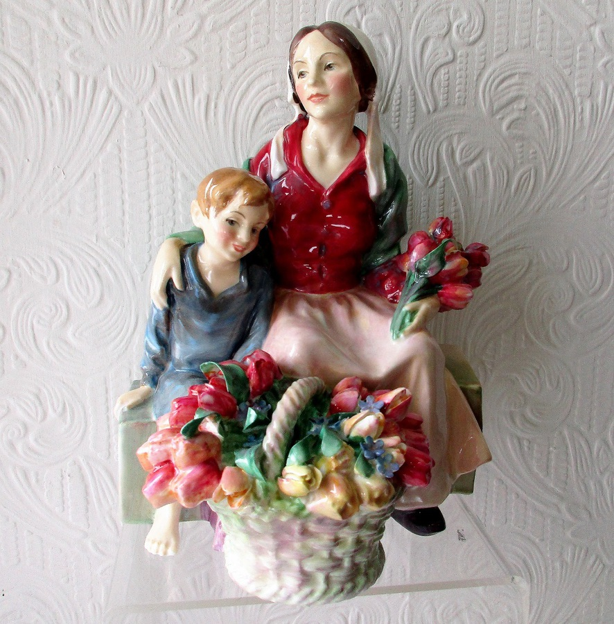 "Vintage Royal Doulton English Porcelain Figurine ~ ""The Little Mother"" ~ HN 1641"