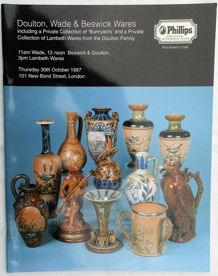 Phillips ~ Doulton, Wade and Beswick Wares ~ London ~ 30. 10. 1997