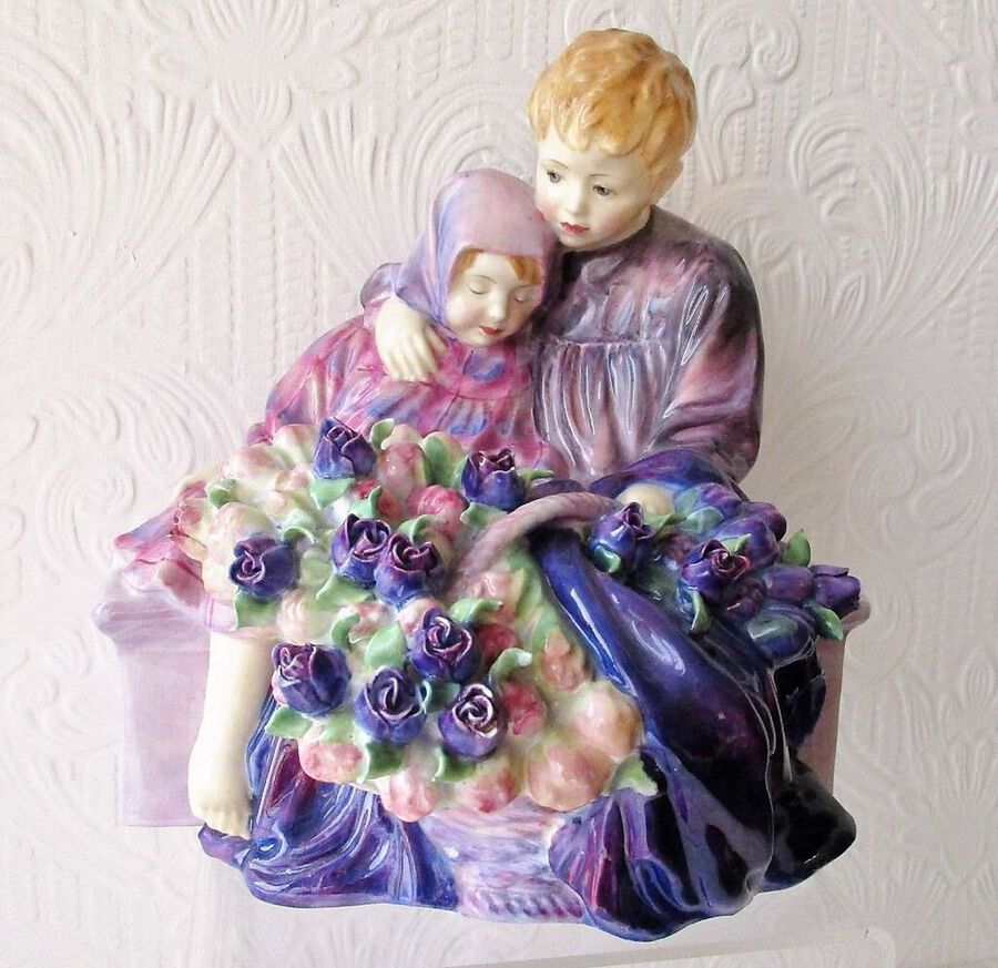 "Vintage Royal Doulton English Porcelain Figurine ~ ""The Flower Seller's Children"" ~ HN 1206"