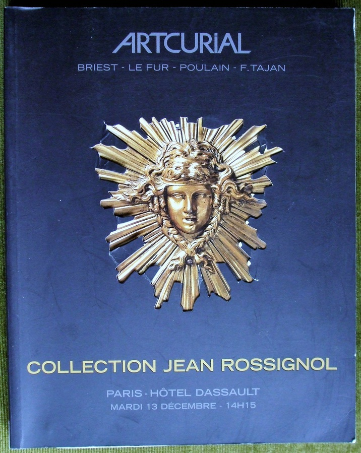 Artcurial ~ Collection Jean Rossignol ~ Sale No. 00370 ~ Paris ~ 13. 12. 2005