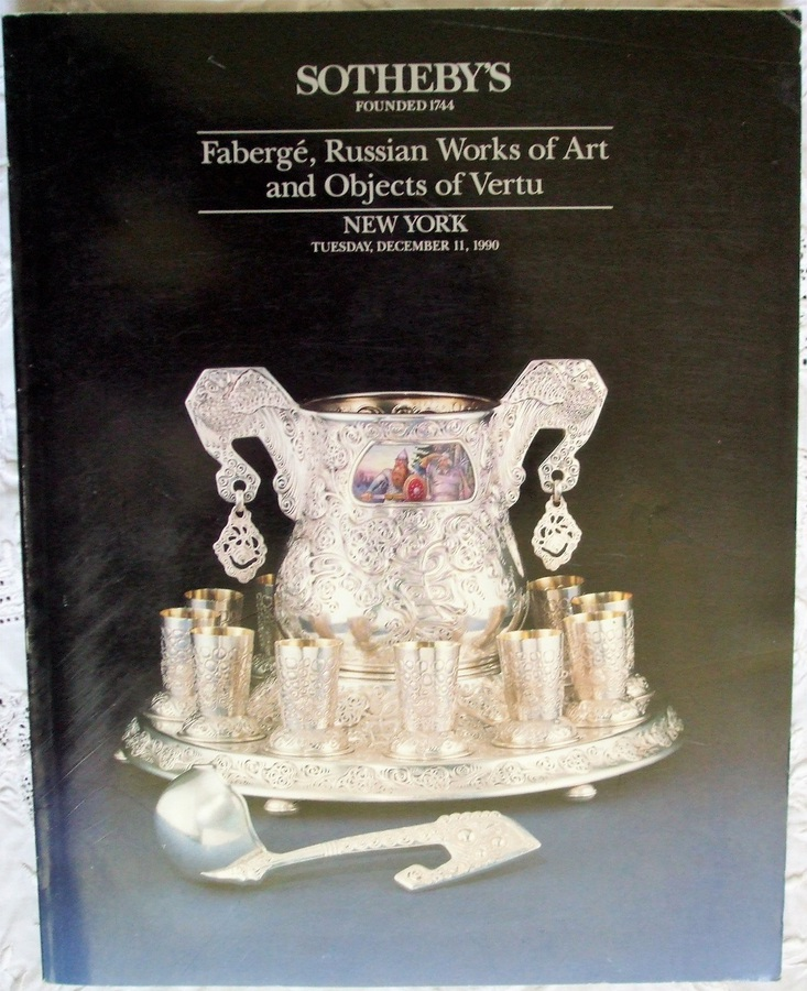 Sotheby's ~ Fabergé, Russian Works of Art and Objects of Vertu ~ New York ~ 11. 12. 1990