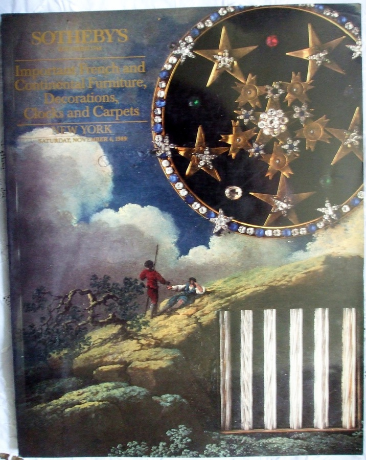 Sotheby's ~ Important French and Continental Furniture, Decorations, Clocks and Carpets ~ New York ~ 04. 11. 1989