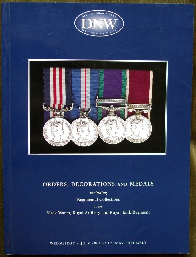 Dix, Noonan, Webb ~ Orders, Decorations and Medals ~ London ~ 04. 07. 2001