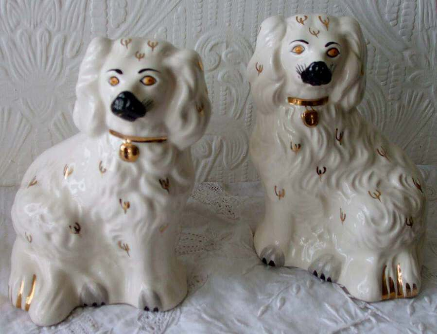 "Vintage Pair of Royal Doulton English ""Comforter"" Spaniels"
