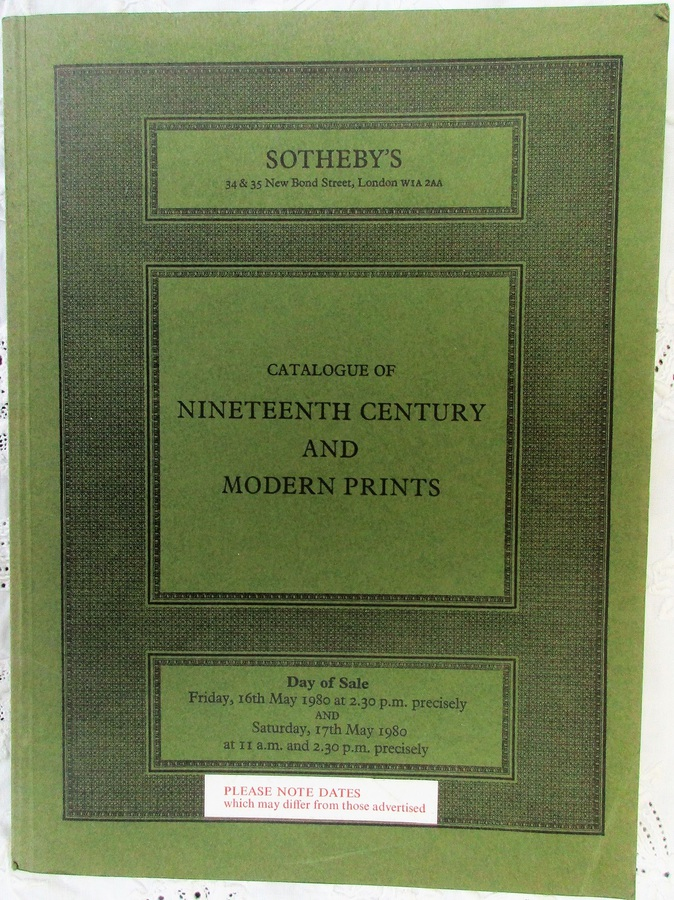 Sotheby's ~ Nineteenth Century and Modern Prints ~ London ~ 16. - 17. 05. 1980