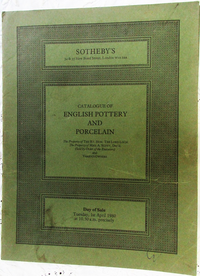 Sotheby's ~ English Pottery and Porcelain ~ London ~ 01. 04. 1980