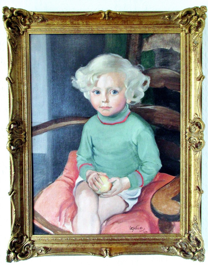 "Framed Oil on Canvas ~ ""Portrait of Peter Groome"" ~ Sir William Oliphant Hutchison, PRSA"