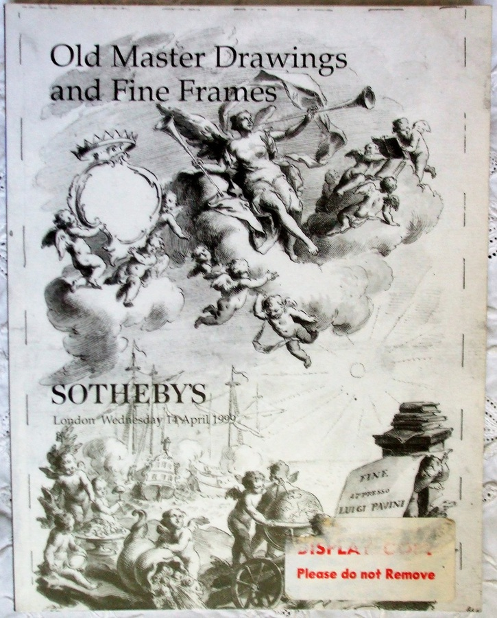 Sotheby's ~ Old Master Drawings and Fine Frames ~ London ~ 14. 04. 1999