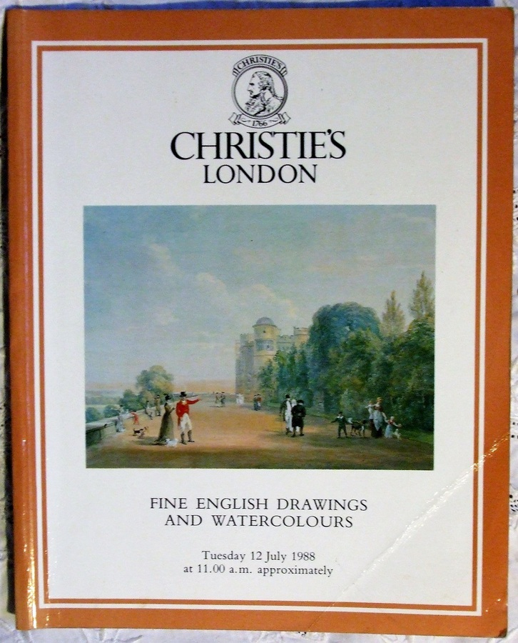 Christie's ~ Fine English Drawings and Watercolours ~ London ~ 12. 07. 1988