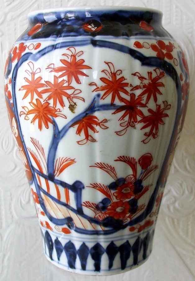 Antique Japanese Meiji Period Imari Vase