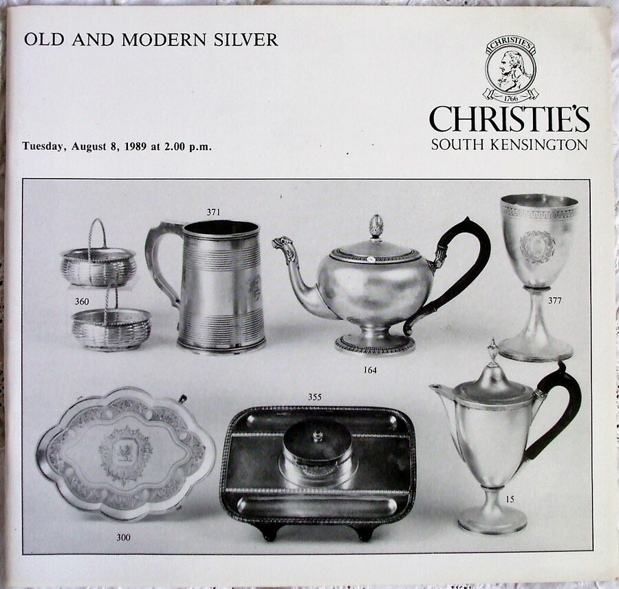 Christie's South Kensington ~ Old and Modern Silver ~ London ~  08. 08. 1989