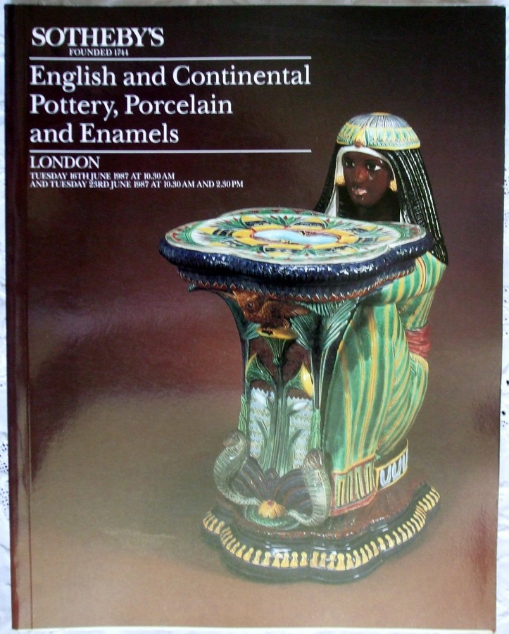 Sotheby's ~ English and Continental Pottery, Porcelain and Enamels ~ London ~ 16. & 23. 06. 1987