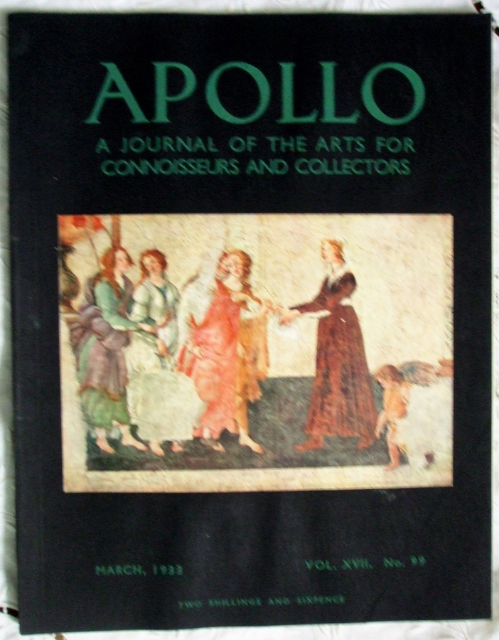 Apollo ~ Vol. XVII ~ No. 99 ~ March 1933