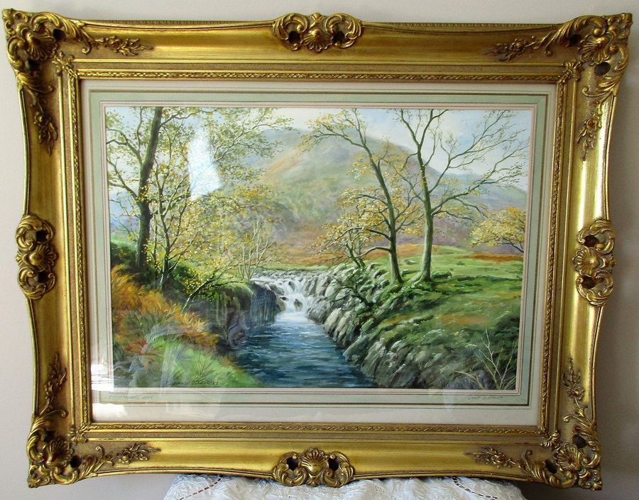 Stonethwaite Beck, Cumbria ~ Watercolour ~ Reginald Johnson ~ c. 1989