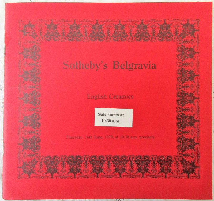Sotheby's Belgravia ~ English Ceramics ~ London ~ 14. 06. 1979