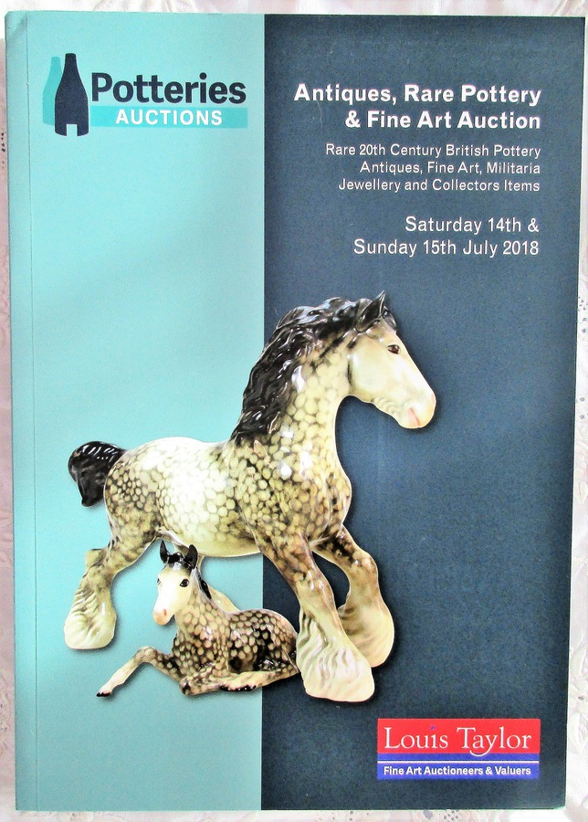 Potteries Auctions ~Antiques, Rare Pottery and Fine Art ~Silverdale ~ Stoke-on-Trent ~ 14. - 15. 07. 2018