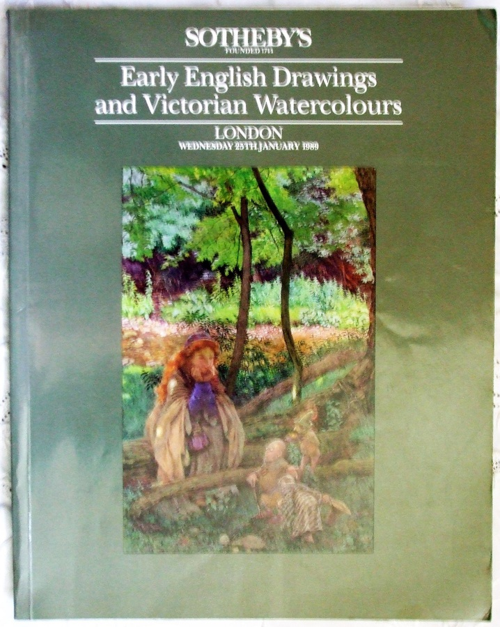 Sotheby's ~ Early English Drawings and Victorian Watercolours ~ London ~ 25. 01. 1989