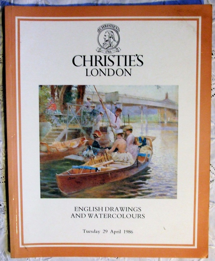 Christie's ~ English Drawings and Watercolours ~ London ~ 29. 04. 1986