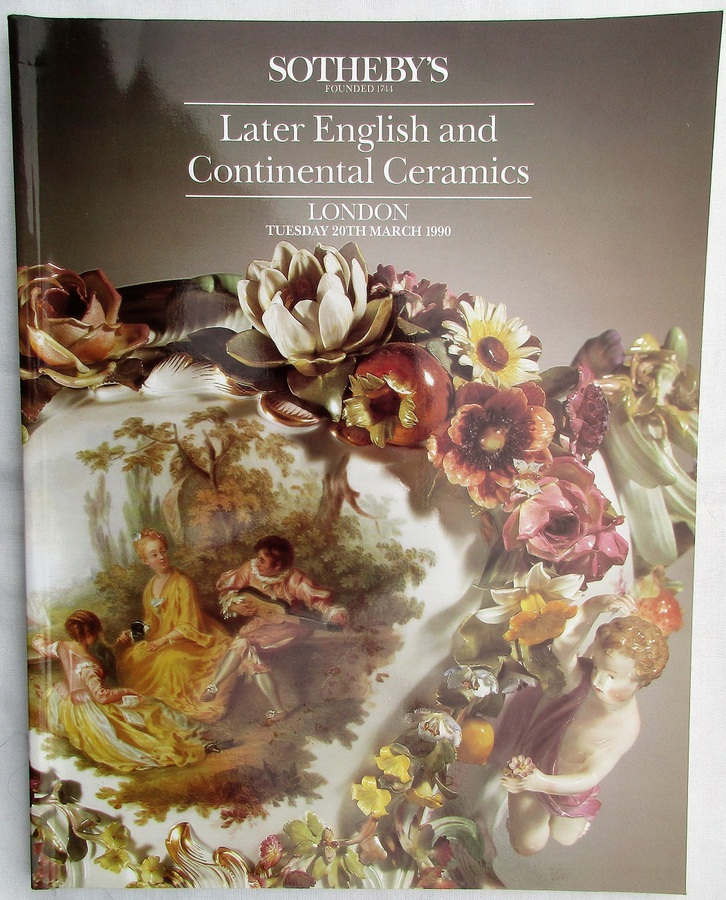 Sotheby's ~ Later English and Continental Ceramics ~ London ~ 20. 03. 1990