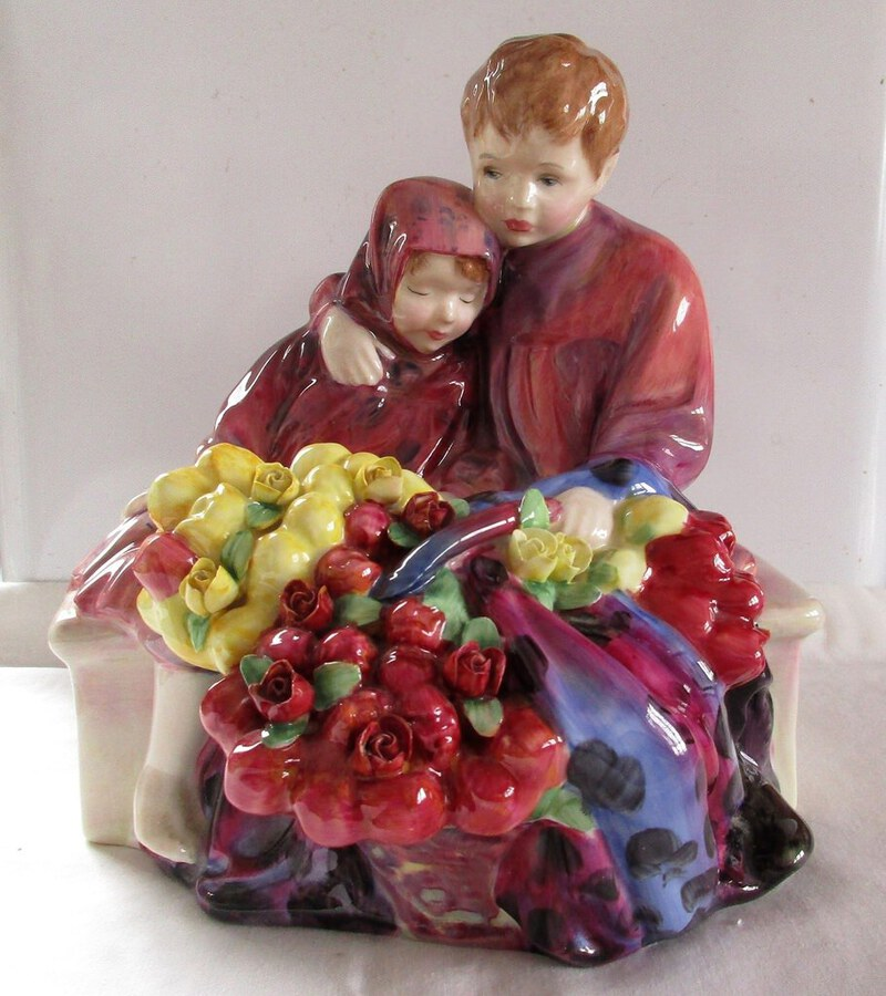 "Royal Doulton English Porcelain Figurine ~ ""The Flower Seller's Children"" ~ HN 1342"