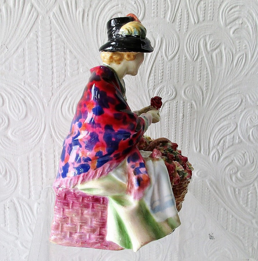 "Antique Vintage Royal Doulton English Porcelain Figurine ~ ""All a' Bloomin"" ~ HN 1466"