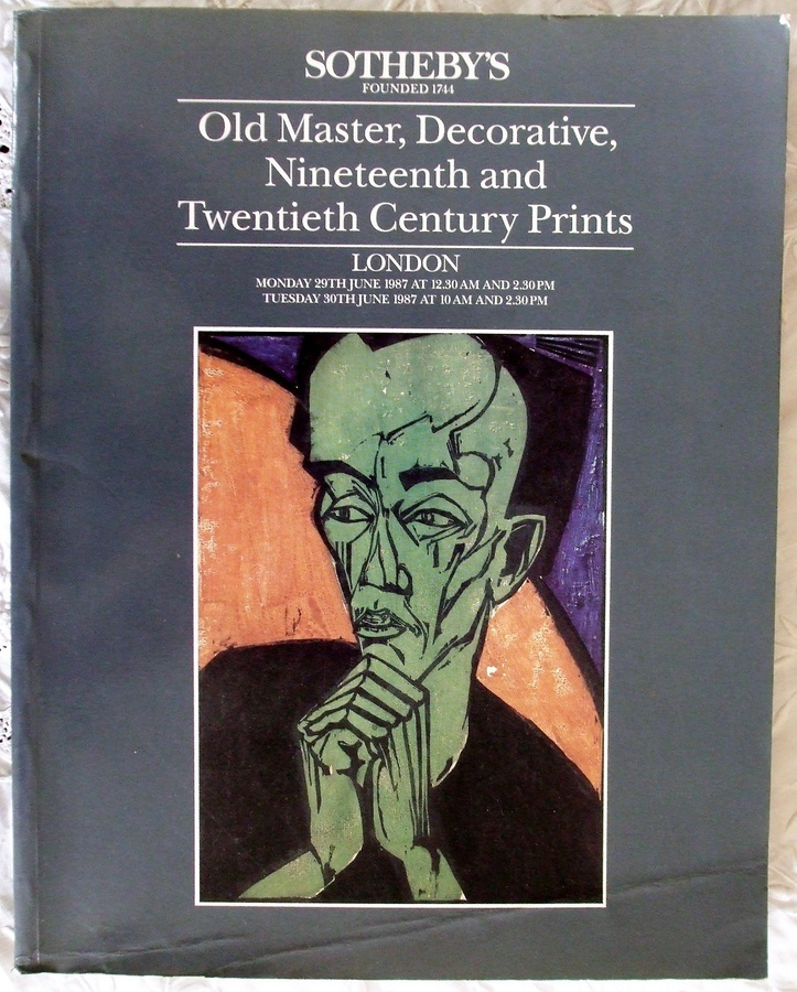 Sotheby's ~ Old Master, Decorative, Nineteenth and Twentieth Century Prints ~ London ~ 29. - 30. 06. 1987