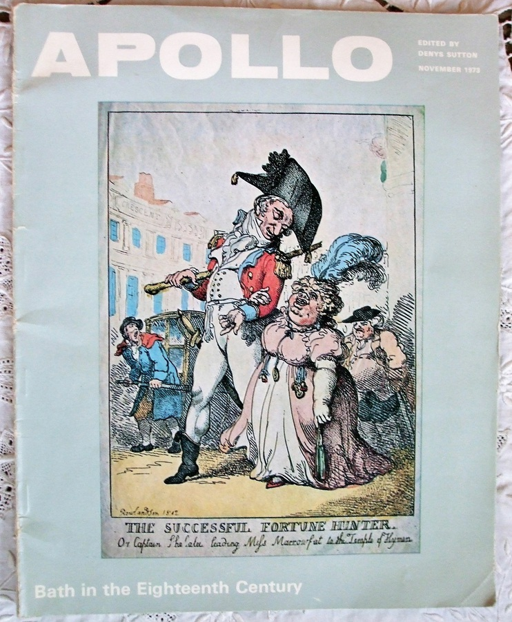 Apollo ~ Bath in the Eighteenth Century ~ Reprint of Vol. XCVIII ~ No. 141 ~ November 1973