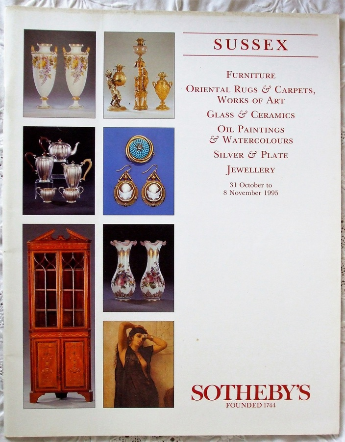 Sotheby's ~ Antiques and Collectables ~ Sussex ~ 31. 10. 1995 - 08. 11. 1995