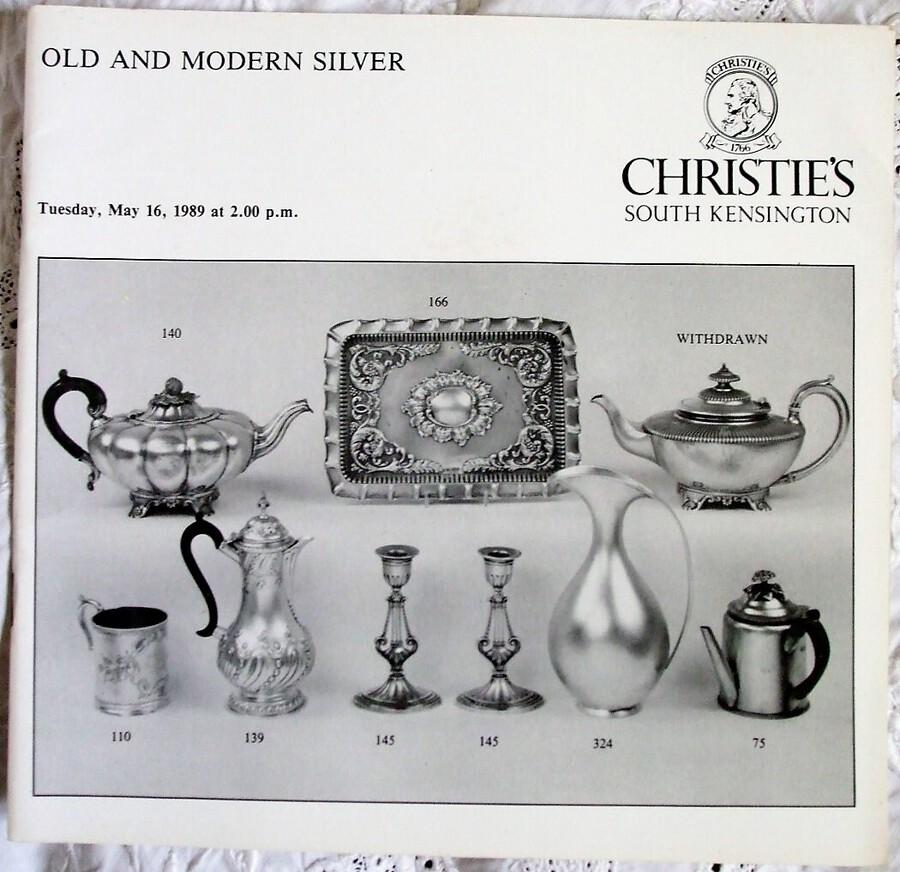 Christie's South Kensington ~ Old and Modern Silver ~ London ~ 16. 05. 1989