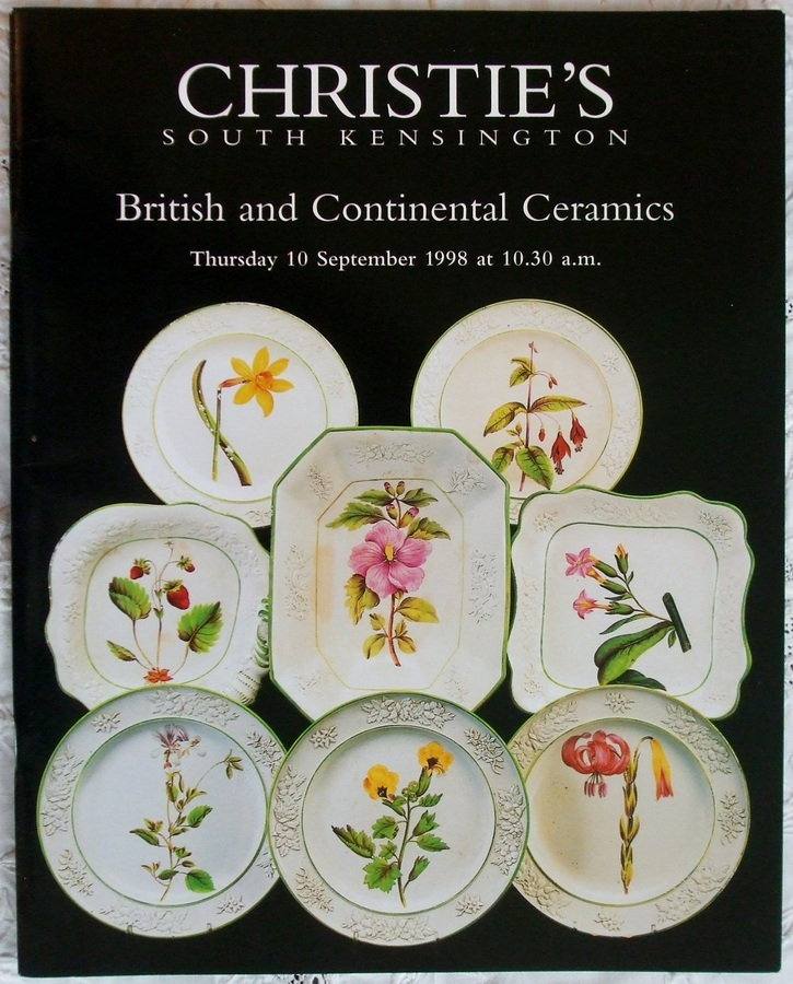 Christie's South Kensington ~ British and Continental Ceramics ~ London ~ 10. 09. 1998