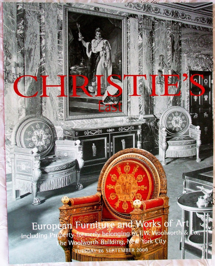 Christie's East ~ European Furniture and Works of Art ~ New York ~ 26. 09. 2000