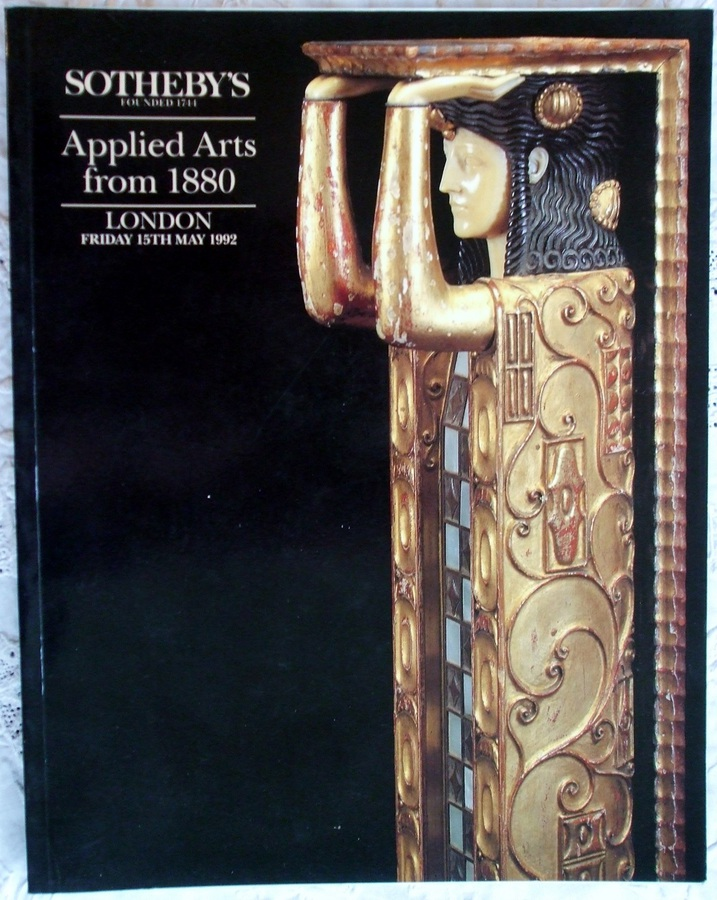 Sotheby's ~ Applied Arts from 1880 ~ London ~ 15. 05. 1992