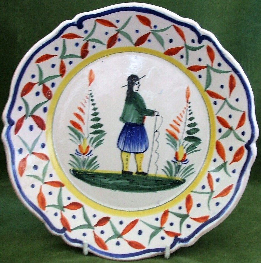 Vintage Henriot Quimper French Faience Dish