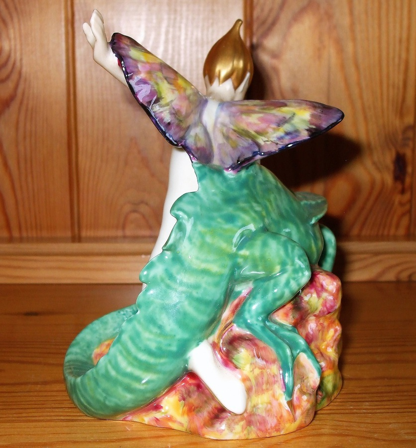 "Antique Royal Doulton English Porcelain Figurine ~ ""Magic Dragon"" ~ HN 2977 ~ Different Colourway"