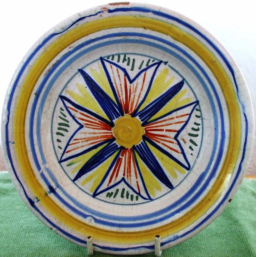 Antique Antique Quimper French Faience Plate
