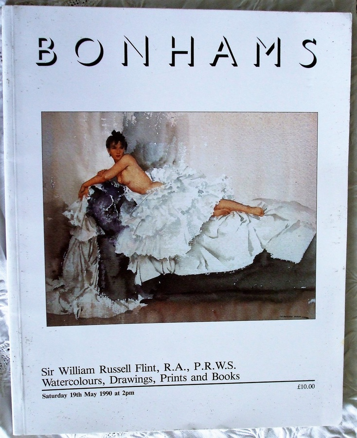 Antique Bonhams ~ Sir William Russell Flint, R.A., P.R.W.S. ~ Watercolours, Drawings, Prints and Books ~ London ~ 19. 05. 1990