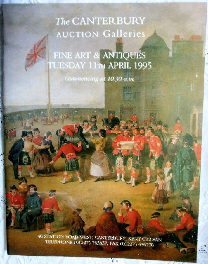 Antique Canterbury Auction Galleries ~ Fine Art and Antiques ~ Canterbury ~ 11. 04. 1995