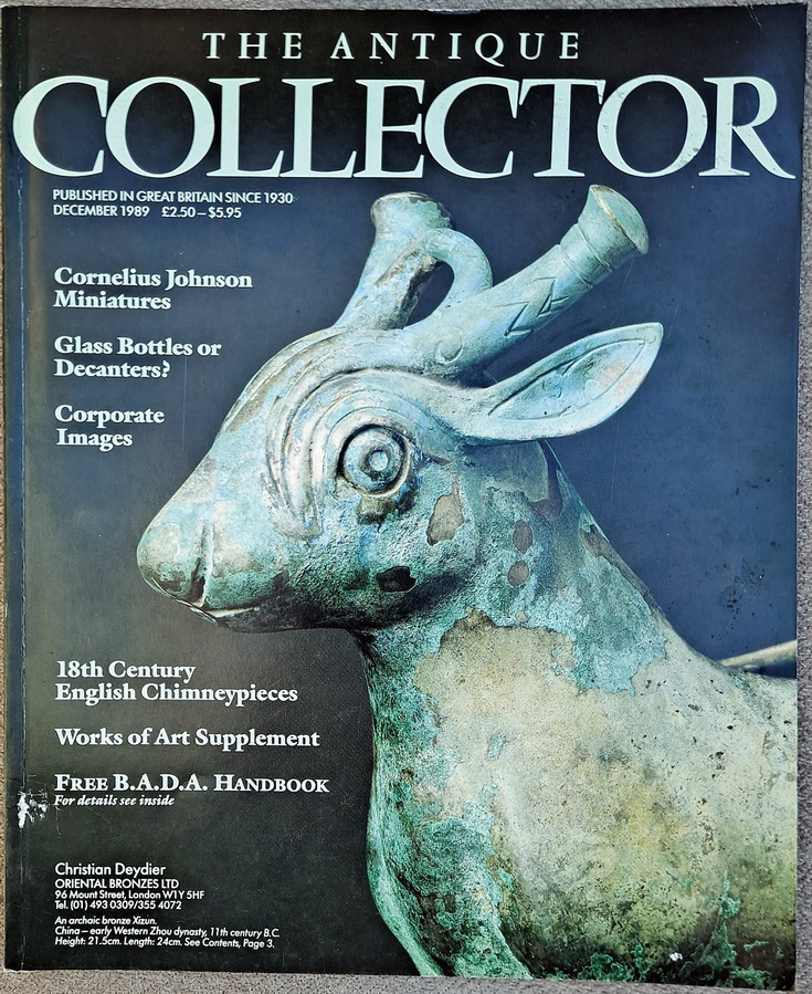 Antique The Antique Collector ~ Vol. 60 ~ No. 12 ~ December 1989