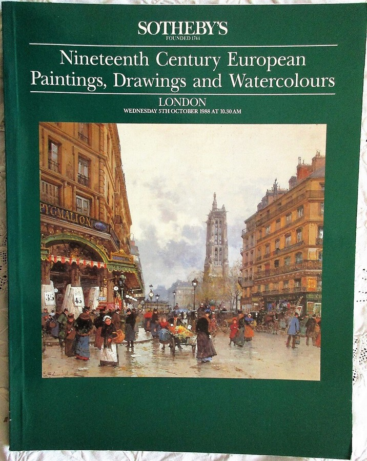 Antique Sotheby's ~ Nineteenth Century European Paintings, Drawings and Watercolours  ~ London ~ 05. 10. 1988