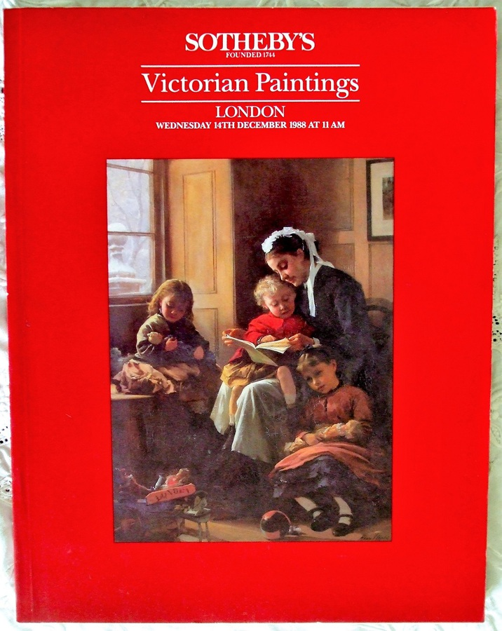 Antique Sotheby's ~ Victorian Paintings ~ London ~ 14. 12. 1988