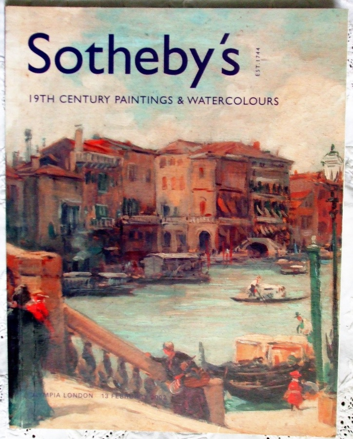 Antique Sotheby's Olympia ~ 19th Century Paintings and Watercolours ~ London ~ 13. 02. 2002
