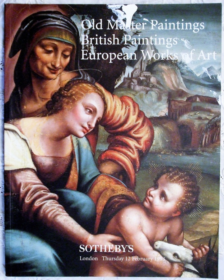 Antique Sotheby's ~ Old Master Paintings, British Paintings, European Works of Art ~ London ~ 12. 02. 1998