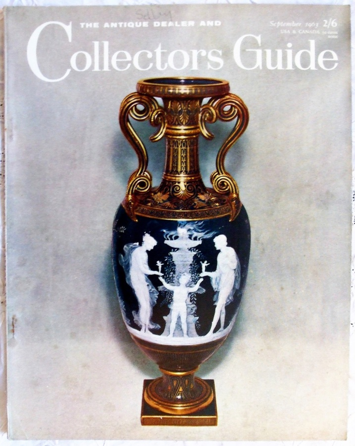 Antique The Antique Dealer and Collectors Guide ~ Vol. 18 ~ No. 2 ~ September 1963