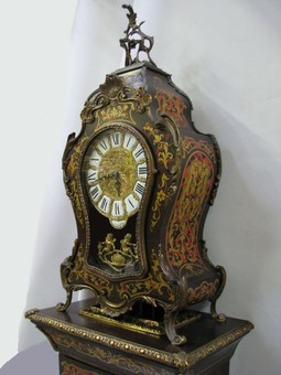 Antique PRESTIGIOUS BOULLE CLOCK ON THE COLUMN