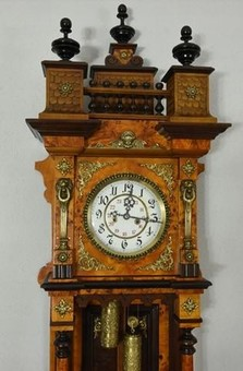 Antique Spectacular Gustav Becker Wall Clock 155 cm !!