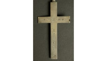 Antique  Silver Crucifix France circa 1910