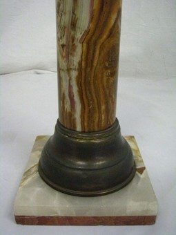 Antique  Early 20th Century Natural Onyx Column